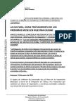 NOTA PROPUESTAS DELEGACIÓN DE CULTURA