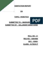 Robotics Report