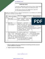 Instruction Booklet for TANCET 2013