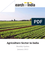 Agriculture Sector in India January 2013