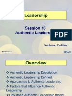 Session 13 LD11 Authentic Leadership
