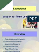 Session15 LD11 Team Ledership