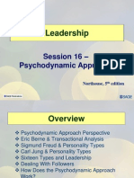 Session16 LD11 Psychodynamic Approch to Leadership
