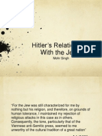 Hitler's Relationship with the Jews