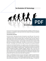 Reflecting on the Evolution of Technology