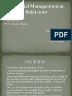 Financial Management at Bajaj Auto