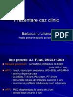 Malformatie Congenitala de Cord - Caz Clinic