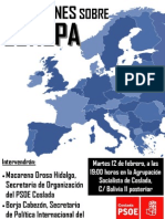 """""""Reflexiones sobre Europa"""" en la Agrupación Socialista de Coslada"""