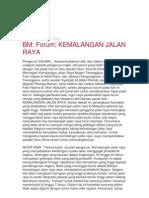Forum Kemalangan Jalan Raya