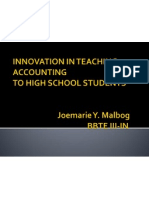 innovation in teaching accounting-malbog