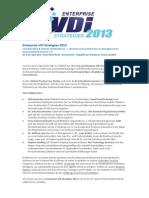 Veranstaltungsankündigung - Enterprise VDi Strategies 2013