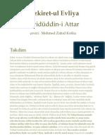 Tezkiret-ul Evliya-Feridüddin-i Attar