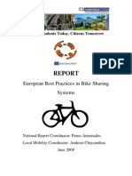 European Best Practices in Bike Sharing Systems