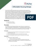 affordable housing design brief