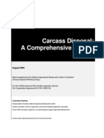 carcass disposal; a comprehensive review