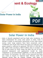 73(B) Solar Power in India
