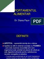COMPORTAMENTul  ALIMENTAR