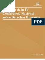 ASIES Memoria de la Conferencia Nacional de Derechos Humanos IV, 2006