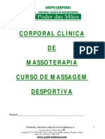 Curso de Massagem Desportiva Clinica