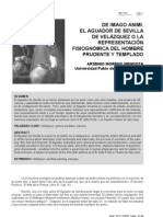 Arsenio Moreno Mendoza de Imago Animi El Aguador de Sevilla de Velazquez o La Representacion Fisiognomica Del Hombre Prudente y Templado