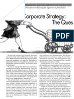 Corporate Strategy- The Quest for Parenting Advantage