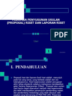 Pedoman Penyusunan Usulan (Proposal)