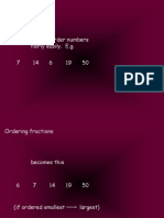 Fractions Ordering (Common Denominator)
