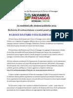 Richieste Ai Candidati Politiche 2013