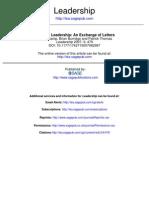 Strategic LEADERSHIP an Exchange of Letters