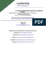 Performin LEADERSHIP Toewards a New Research Agenda in Leadership Studies