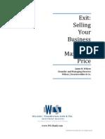 Exit-Selling Biz for Max Price_WSCo