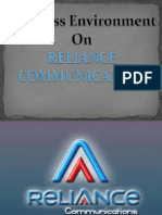 business environment of reliance communication .