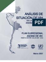 Situacion Del Vih en La Region Andina 2003-2005