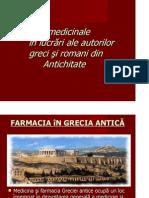 Plantele Medicinale in Lucrari Ale Autorilor Greci Si Romani Din Antichitate_RALUCA GRIGORASI