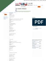 C Program to Create a Binary Search Tree