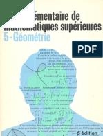 Cours élémentaire de mathématiques supérieures - 5 Géométrie