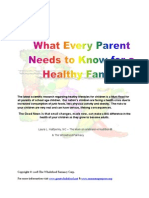 What Every Parent Needs to Know for a Healthy Family