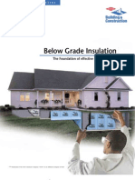 Below Grade Insulation