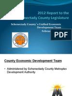 Metroplex 2012 Report to the Schenectady County Legislature