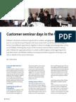 Customer seminar days in the UK