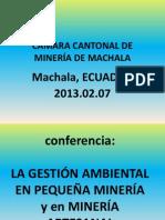Gestión Ambiental en Minería. MAC, 13.02.07