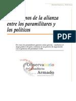 OBSERVATORIO CONFLICTO ARMADO - Alianza entre paramilitares y políticos