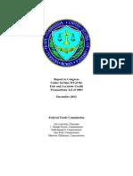 FTC Credit Report study