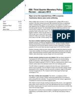 RBI Third Quarter Monetary Policy Review  January 2013.pdf