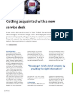 Getting acquainted with a new Service Desk