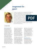 Service Management for Citizen Support