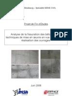 Analyse de la fissuration de béton