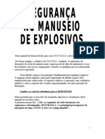 segurança no manuseio de explosivos