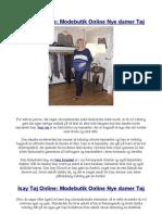 Isay Tøj Online Modebutik Online Nye damer Tøj