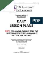 Lesson Plan for Spanish